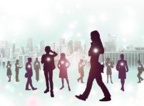 街を歩く人々と法則